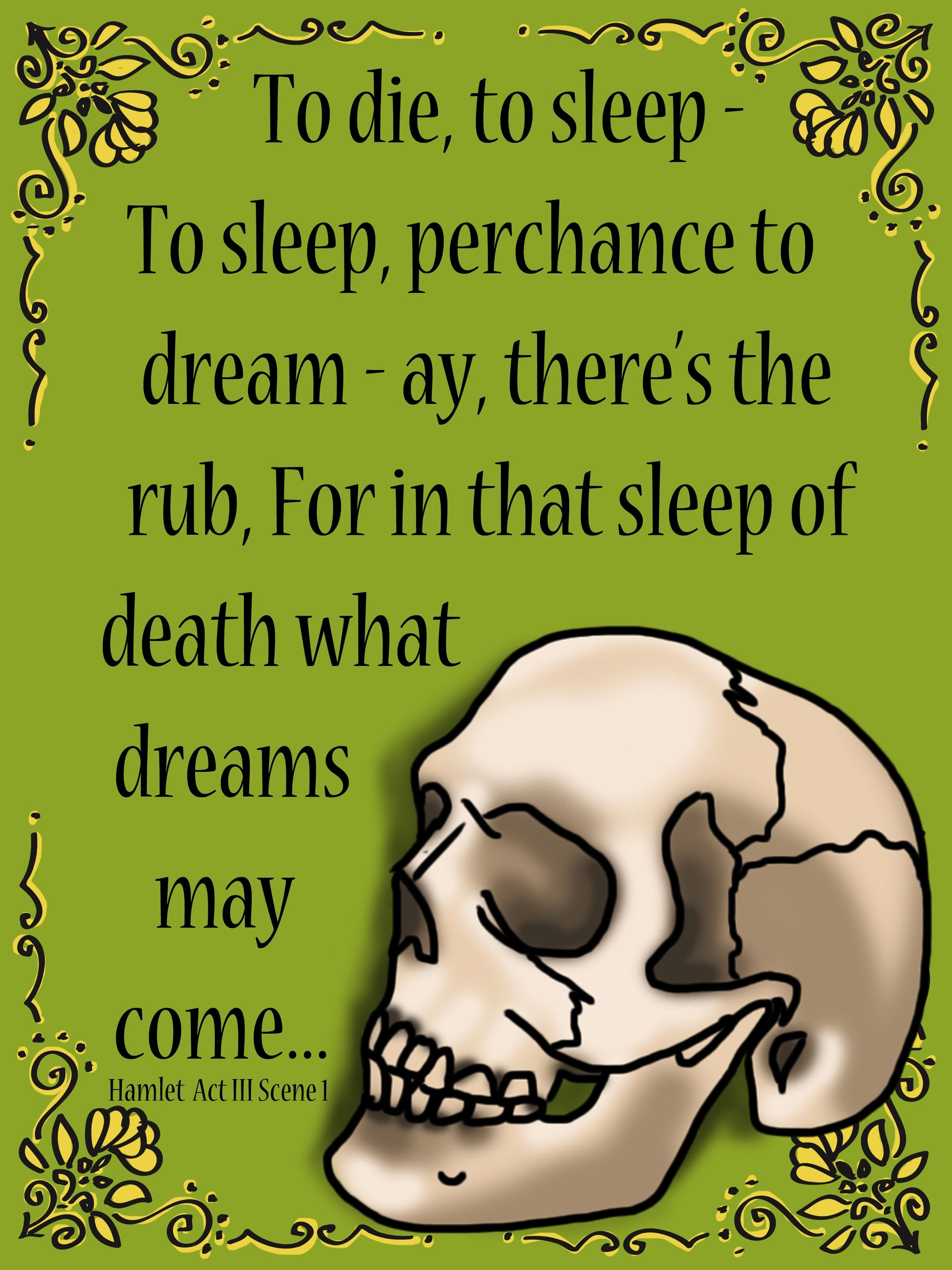 Set of 9 shakespeares hamlet quote posters also included are all of the posters with white backgrounds to save on ink