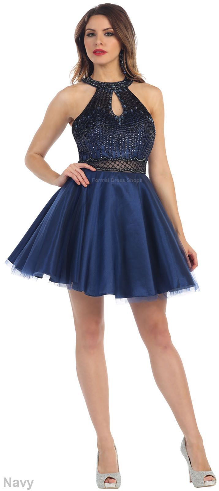 Halter Top Short Sweet 16 Dress Homecoming Semi Formal Prom Dance Birthday Party Sweet 16 Dresses Short Sweet 16 Dresses Homecoming Dresses [ 1600 x 715 Pixel ]