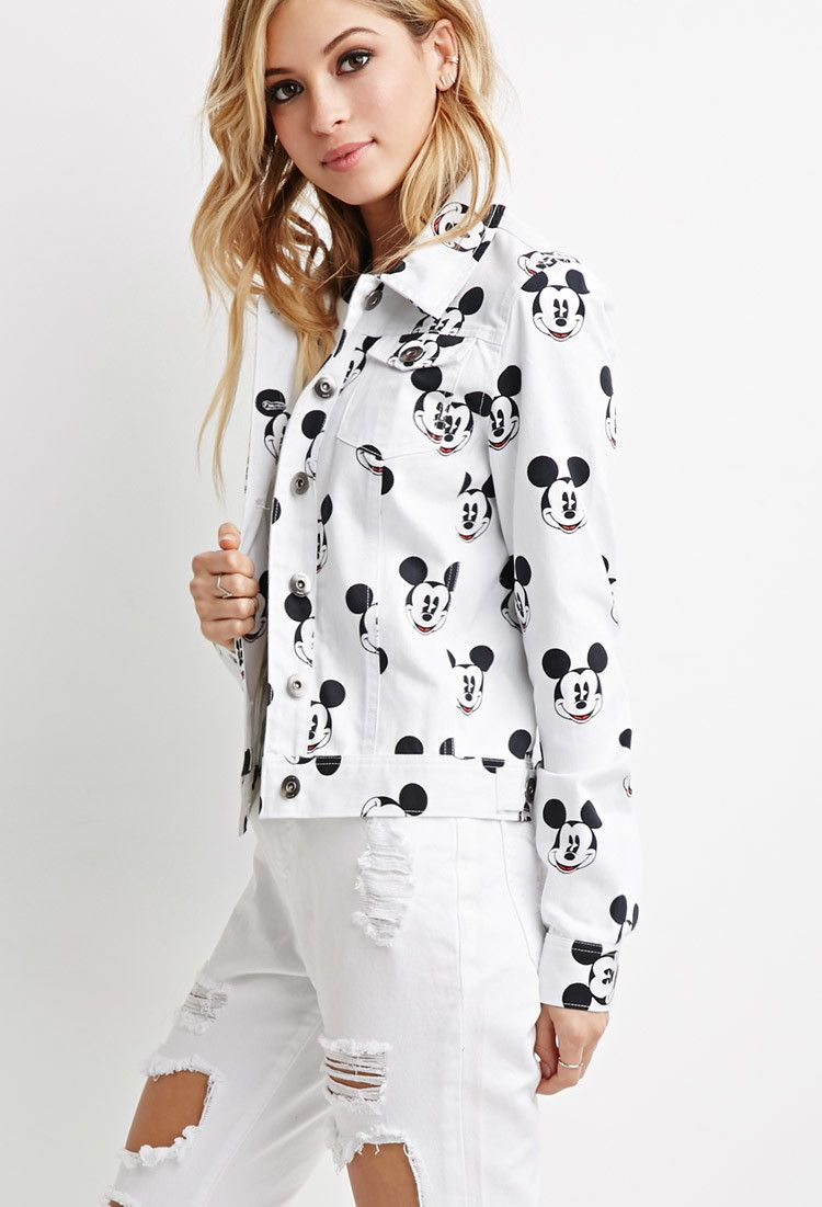 646f598673f55b Mickey Mouse Denim Jacket | Forever 21 - 2049258936 | I MADE THIS ...