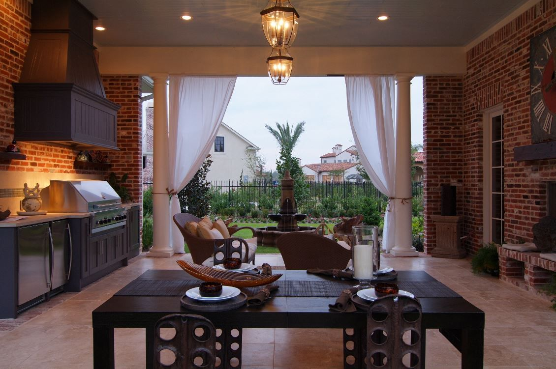 Covered Outdoor Kitchen Eating Area Architecture House Covered Outdoor Kitchens Commercial Architecture