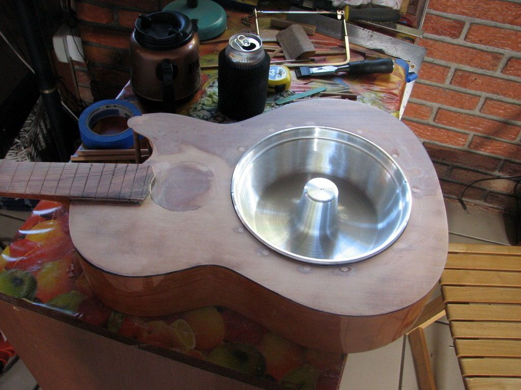 Resonator Guitar Converted From Old Acoustic Guitar Resonator Guitar Acoustic Guitar Guitar Diy