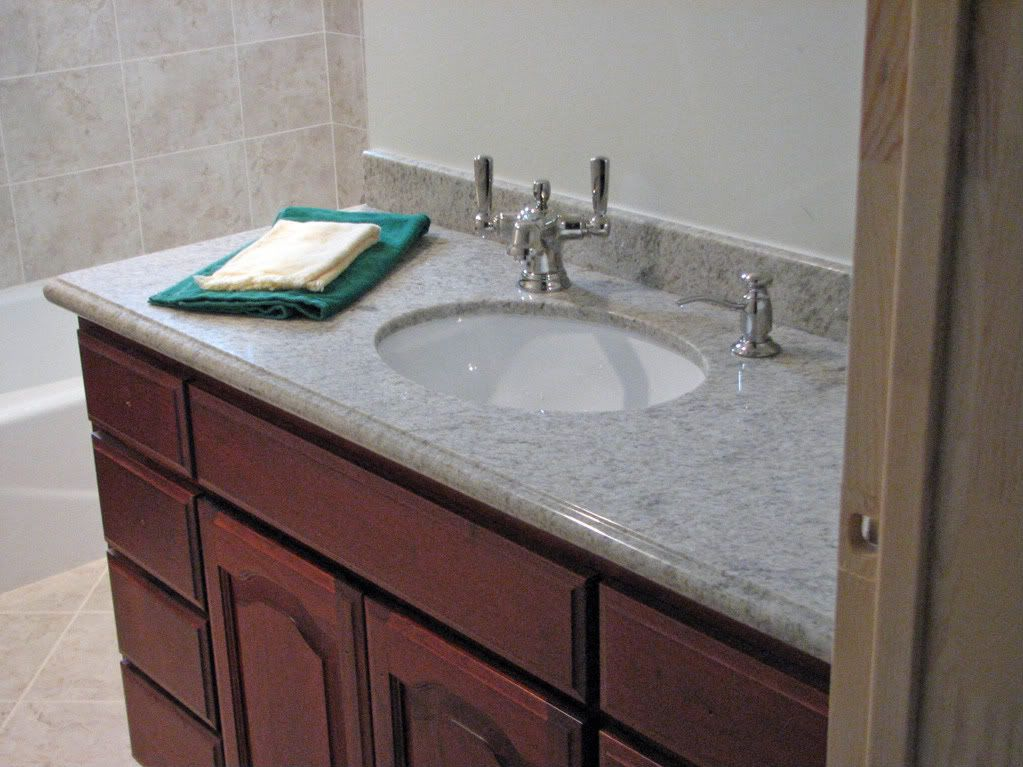 Offset Faucet On A 18 Deep Granite Vanity Laundry In Bathroom Granite Vanity Vanity