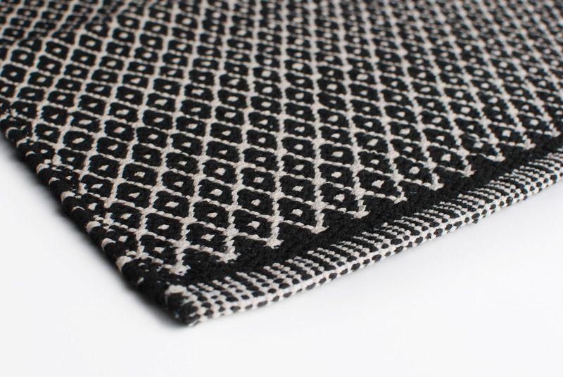 Aspegren Rug Rhombe Black Closeup Web Black And White