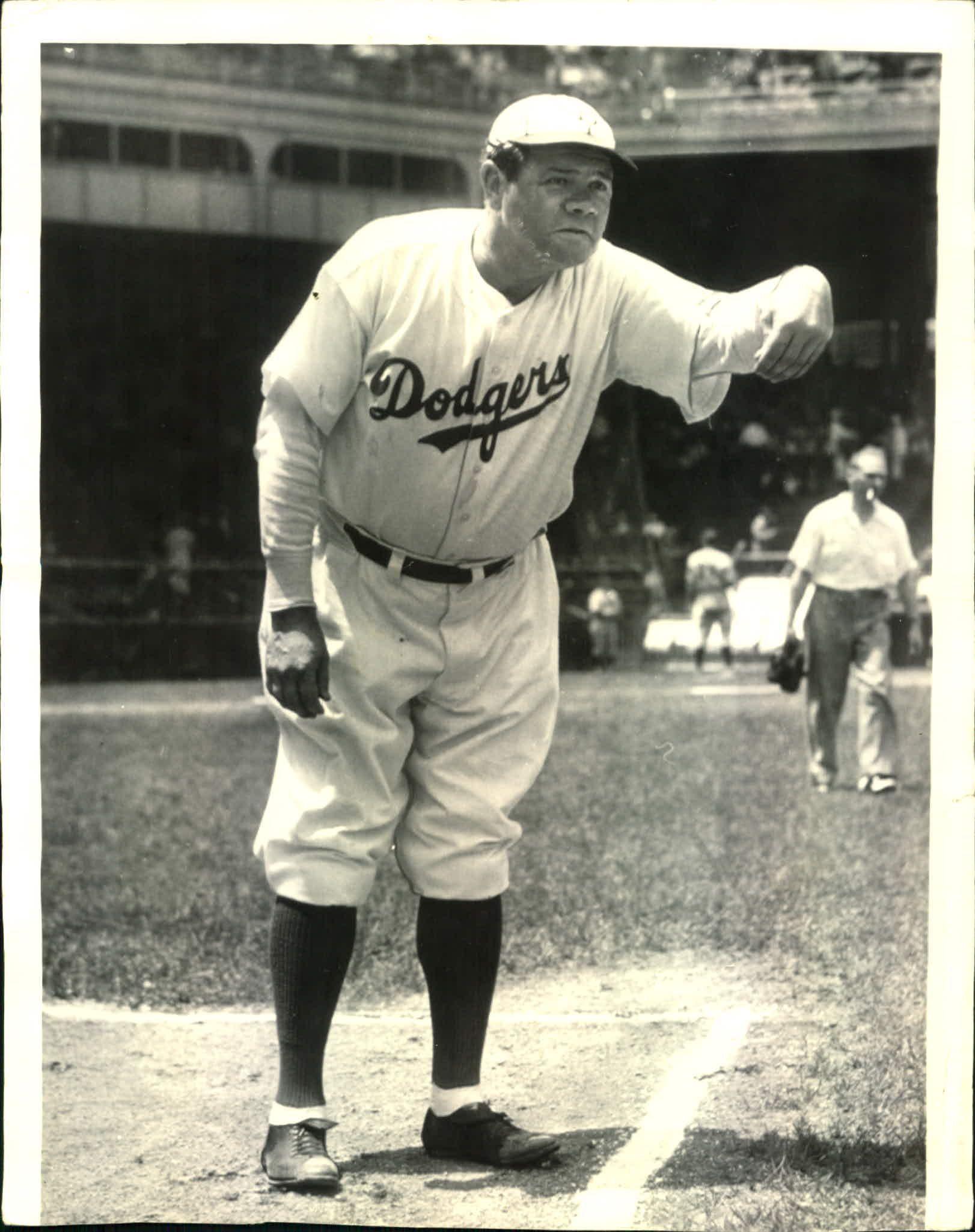 nice shoes d4c4f 480fc 1938 Brooklyn Dodgers first base coach Babe Ruth | Brooklyn ...