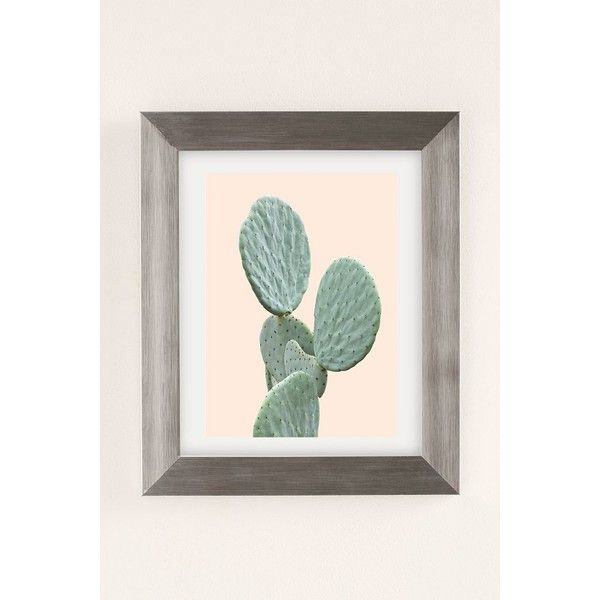 Wilder california mountain cactus art print 39 ❤ liked on polyvore featuring home home decor wall art silver matte frame cactus wall art urban