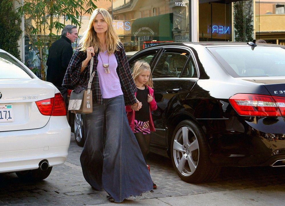 Heidi Klum Flare Jeans - Flare Jeans Lookbook - StyleBistro