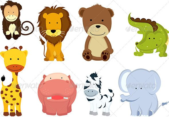 Wild Cartoon Animals Cartoon Animals Animals Wild Animals For Kids