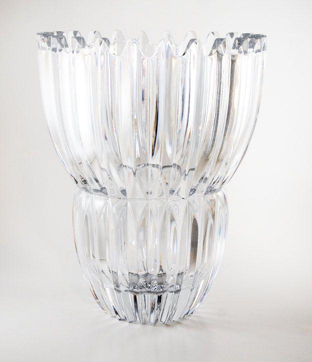 Mikasa Lead Crystal Flower Vase 9 Inch Crystal Vase Ice Palace