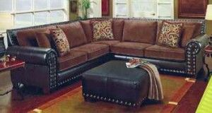 Corduroy Sectional W/ Pillows   Great Western Furniture Company