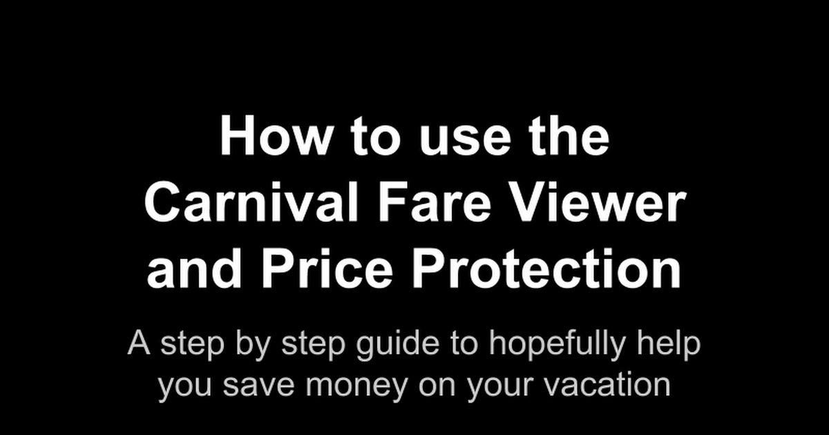 Step-by-Step Guide to the Carnival!
