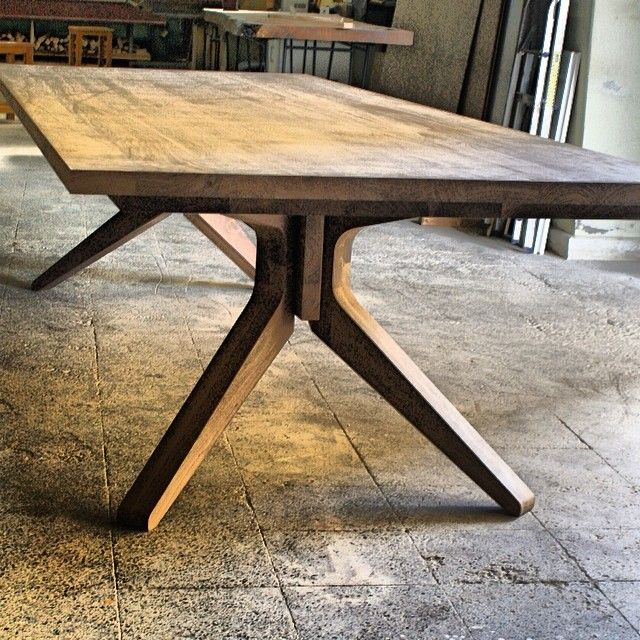 Beautiful Chunky Walnut Dining Table