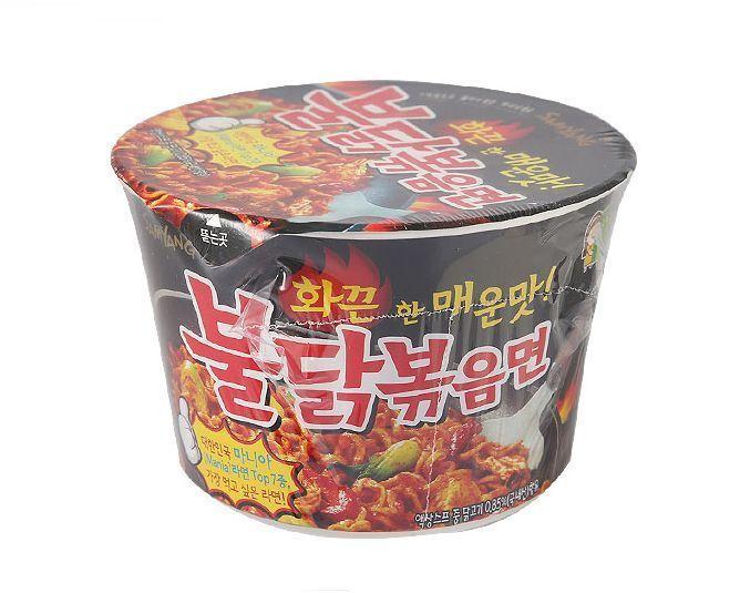 Korean hot spicy noodle samyang buldakbokeum big size cup ramen ramyun 3 6ea