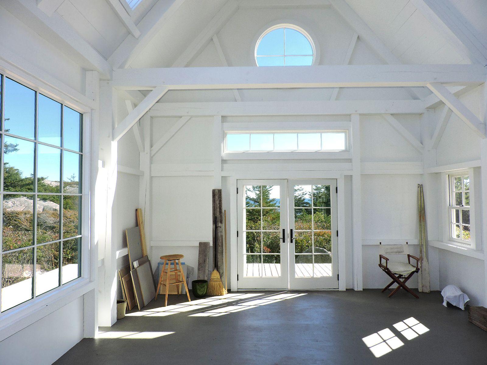 White Washed Timber Frame Art Studio