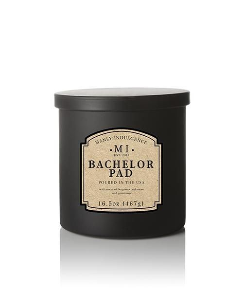 Manly Indulgence 16.5 oz Bachelor Pad Scented Jar Candle ...