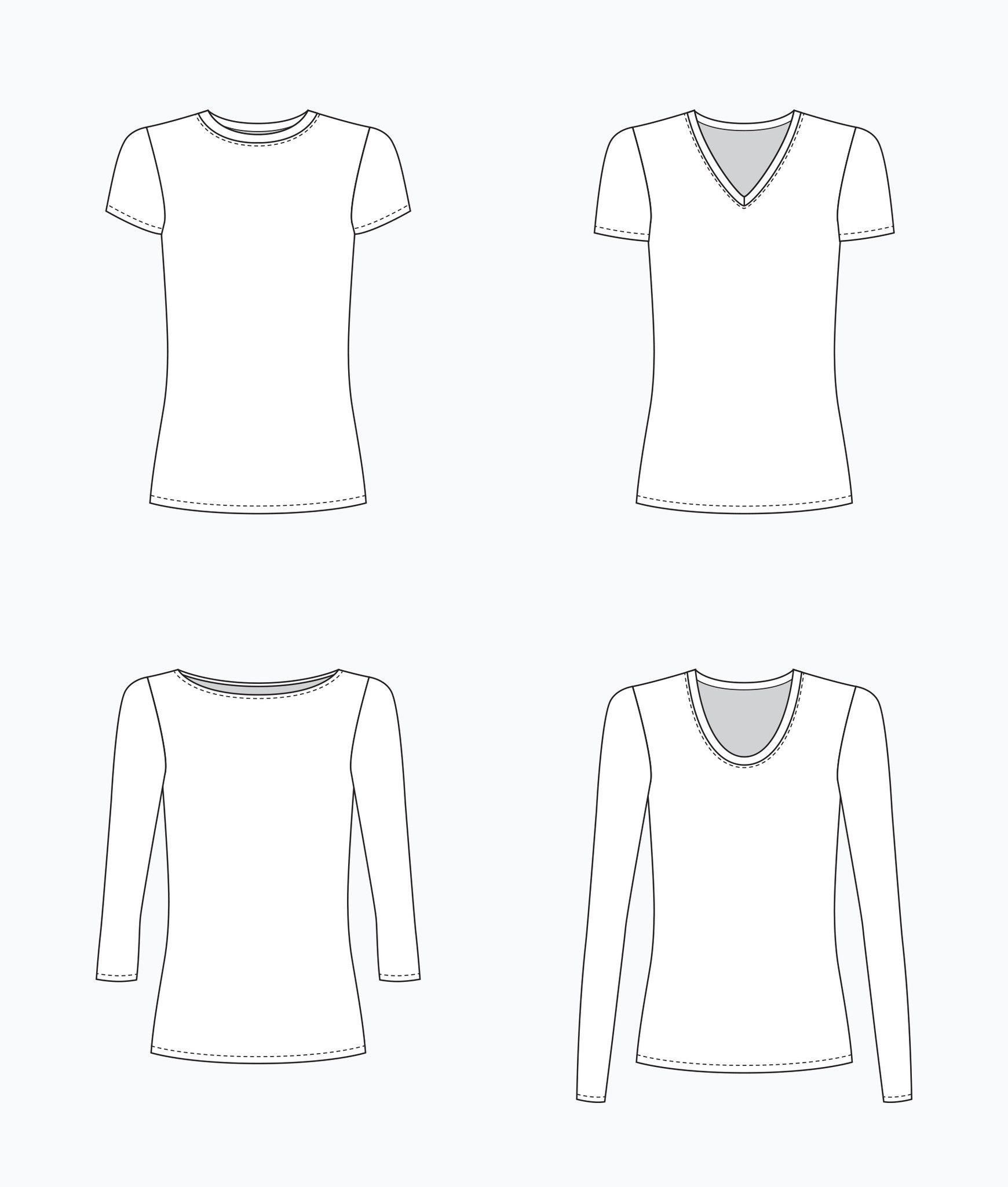 Lark Tee - Paper Pattern | Blusen, Schnittmuster und Inspiration