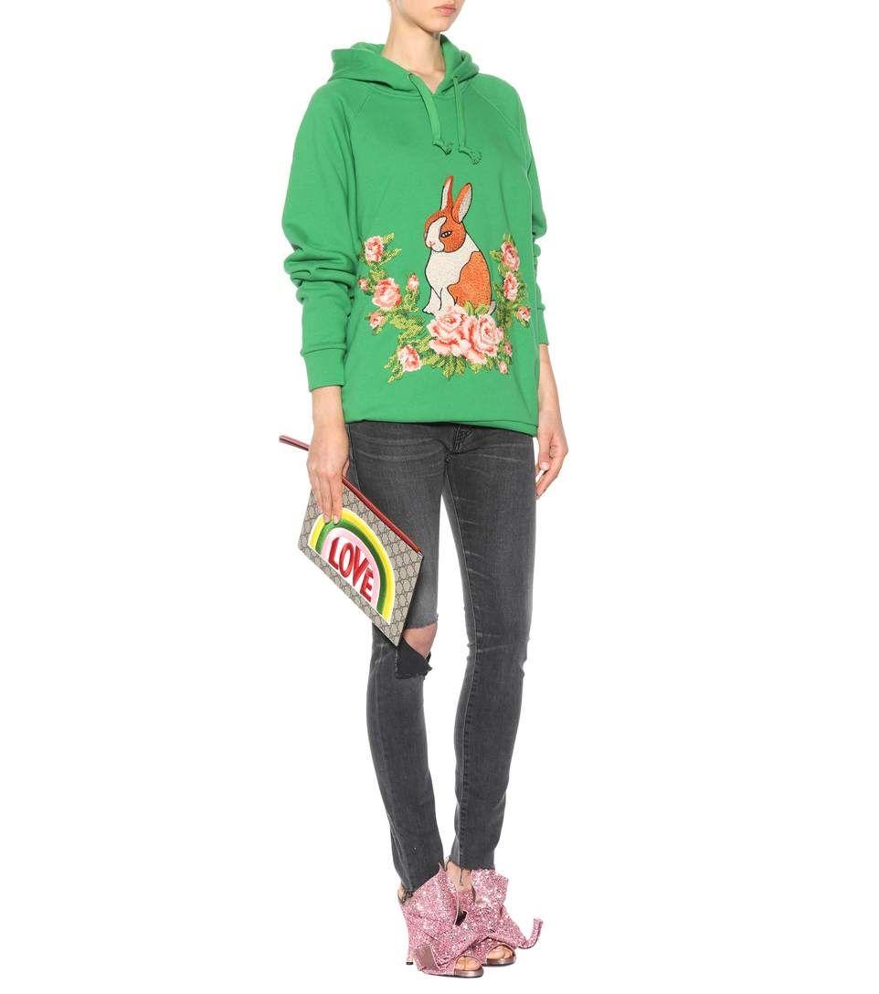 8181b0000638 GG Supreme Embroidered Clutch - Gucci #fashion #pandafashion #clutch #gucci