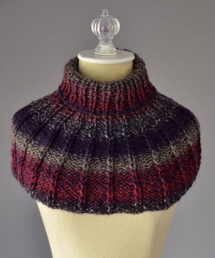Free Knitting Pattern for Collar Cowl - This shoulder cozy has a ...