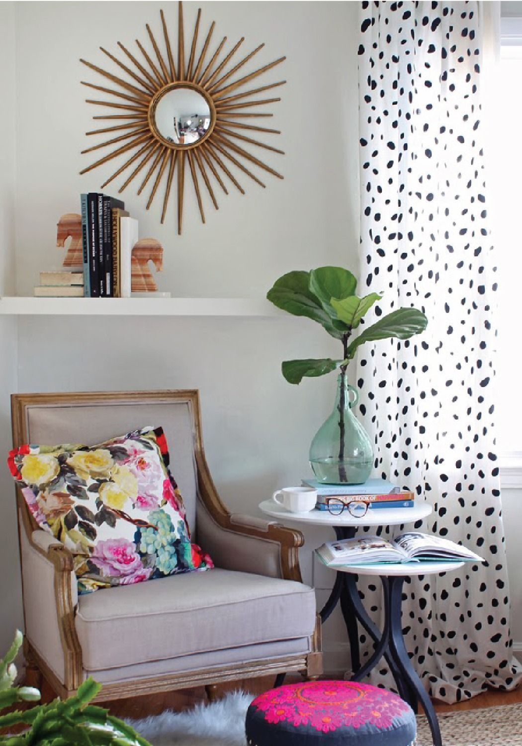 Learn how to personalize your space with DIY spotted drapery.