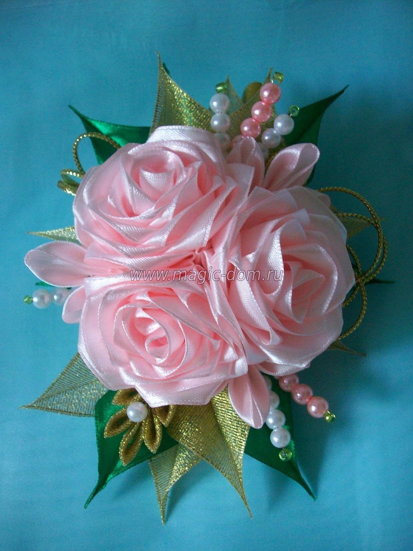 Rosa Kanzashi Pinterest Flower Fabric Flowers
