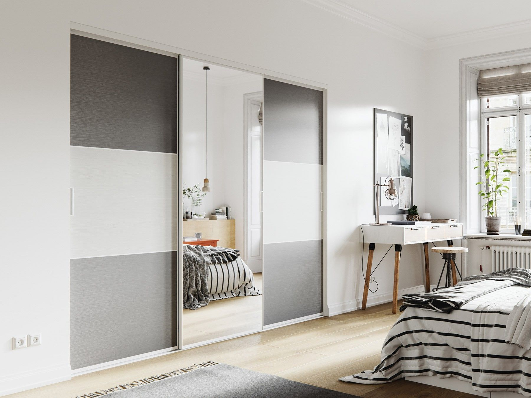 100 Génial Concepts Porte Miroir Coulissante Sur Mesure