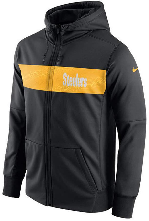 3508c79b4 Nike Men s Pittsburgh Steelers Seismic Therma Full-Zip Hoodie ...