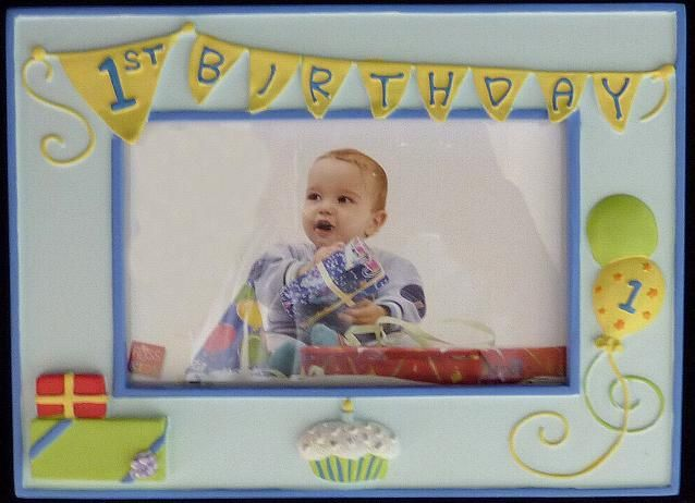 Boys First Birthday Photo Frame
