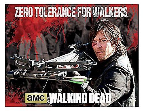 Walking Dead Throw Blankets Pleasing Amc The Walking Dead Daryl Zero Tolerance For Walkers 45 X 60 Sherpa Design Decoration