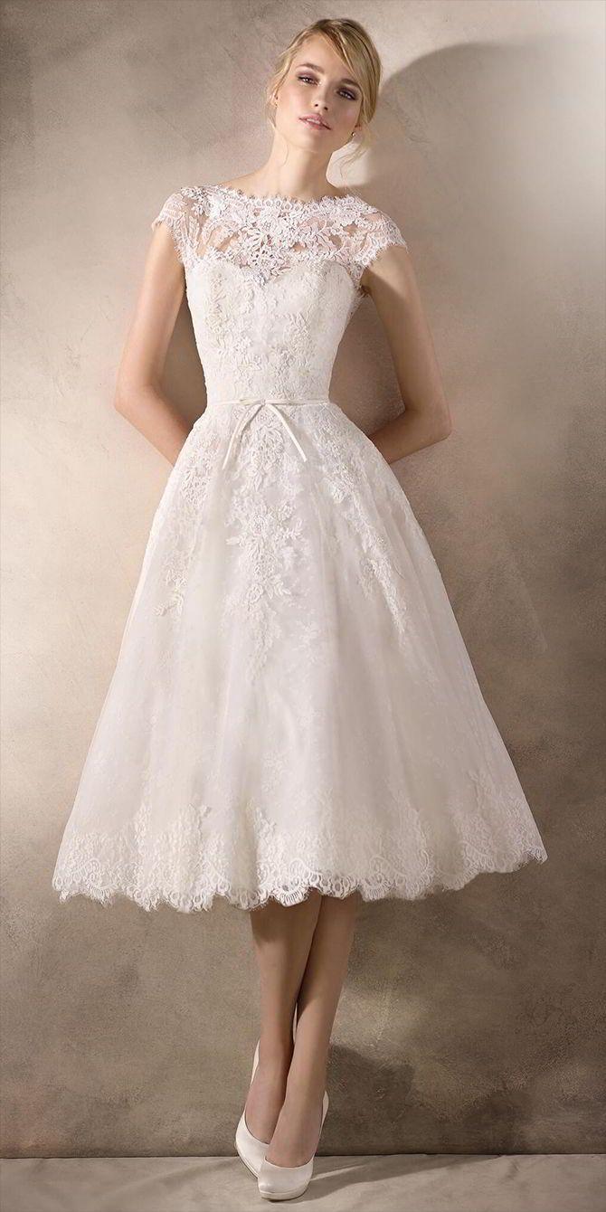 La Sposa 2017 Wedding Dresses World Of Bridal Midi Wedding Dress Short Wedding Dress Tea Length Wedding Dress