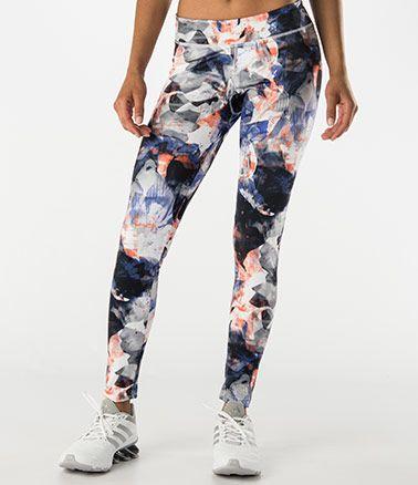 b124506022c3f Nike RU City Print Legging Space Blue/Hyper Crimson - 6pm.com   одежда для  фитнеса