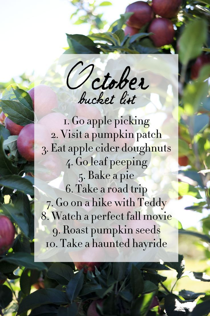 October Bucket List - Bucket List Ideas #fallbucketlist