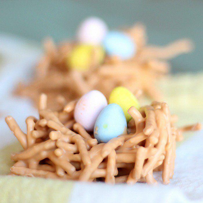 butterscotch bird nest treats (with chow mein noodles