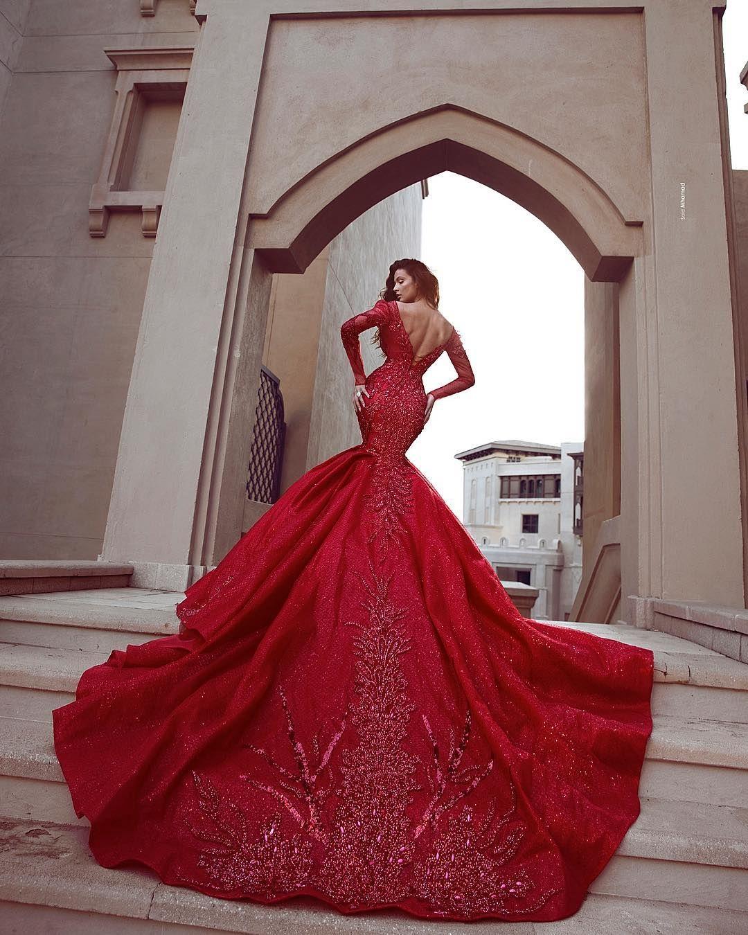 Fashion Rote Abendkleider Lang Günstig  Abendkleid Mit