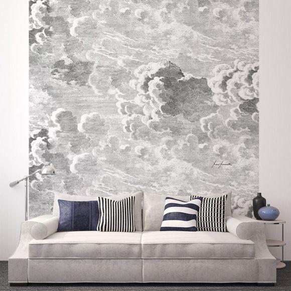 Panneau nuvole nuage fils et papiers peints for Meubles peints japonais
