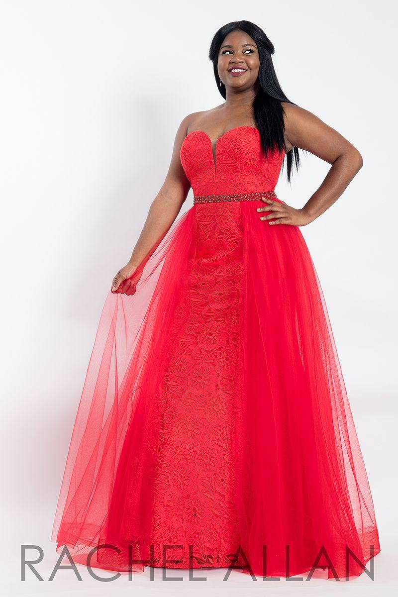 2fe02480d03 Style 6300 - Curves Dresses 2018 from Rachel Allan Collection   curvesDresses  rachelAllan  Red  Dress  curves