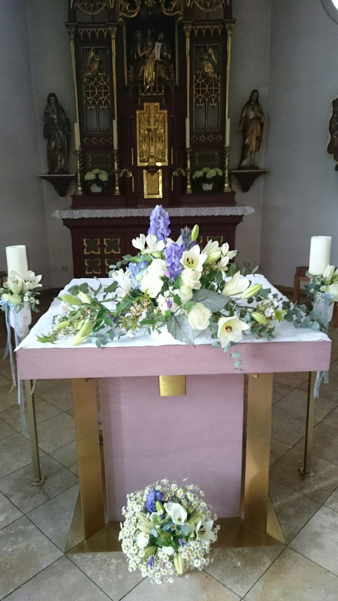 Kirchenschmuck Hortensien Hochzeit