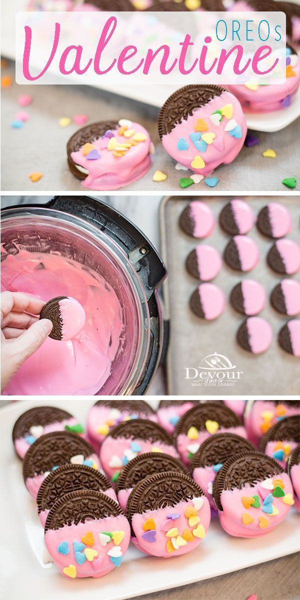 Valentine OREOs are a PERFECT treat to make with your littles or to surprise them for Valentines Day with some extra love Fun and easy Craft and Eat Treat for School Part...