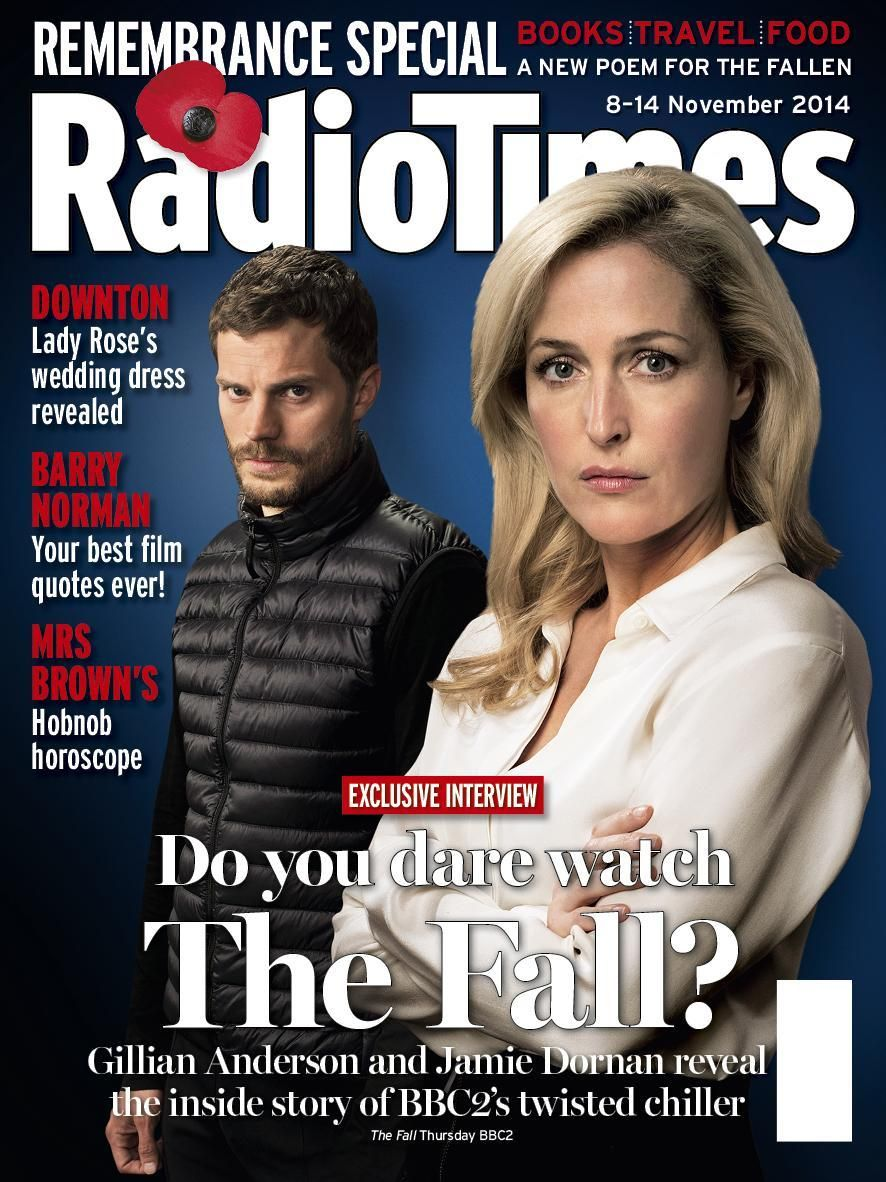 RT @RadioTimes: The Fall's @GillianA and @JamieDornan are this week's Radio Times cover stars. http://www.radiotimes.com/news/2014-11-03/jamie-dornan-and-gillian-anderson-talk-the-fall-plus-spy-downton-wedding-details-in-new-radio-times …