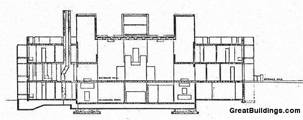 Great Building · Building DrawingLouis KahnDormitoryBuildingsCgi. An  Architectural Drawing Of Erdman Hall ... Design Ideas