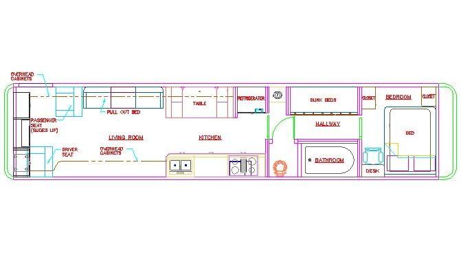 school bus dimensions interior google search rv skoolie wohnmobil umbau busse. Black Bedroom Furniture Sets. Home Design Ideas