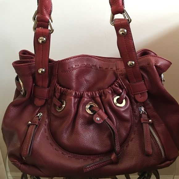 Lower Price B Makowsky Medium Hobo Shoulder Bag This Is A Gorgeous Wine Colored
