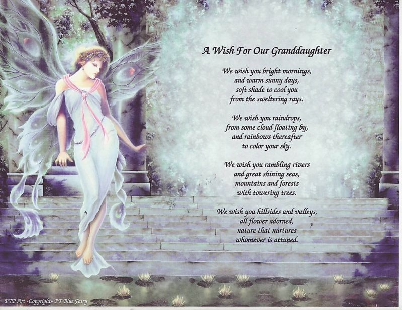 WHY GOD MADE GRANDDAUGHTERS  BIRTHDAY  EXTRA LARGE CARD WITH LOVELY VERSES