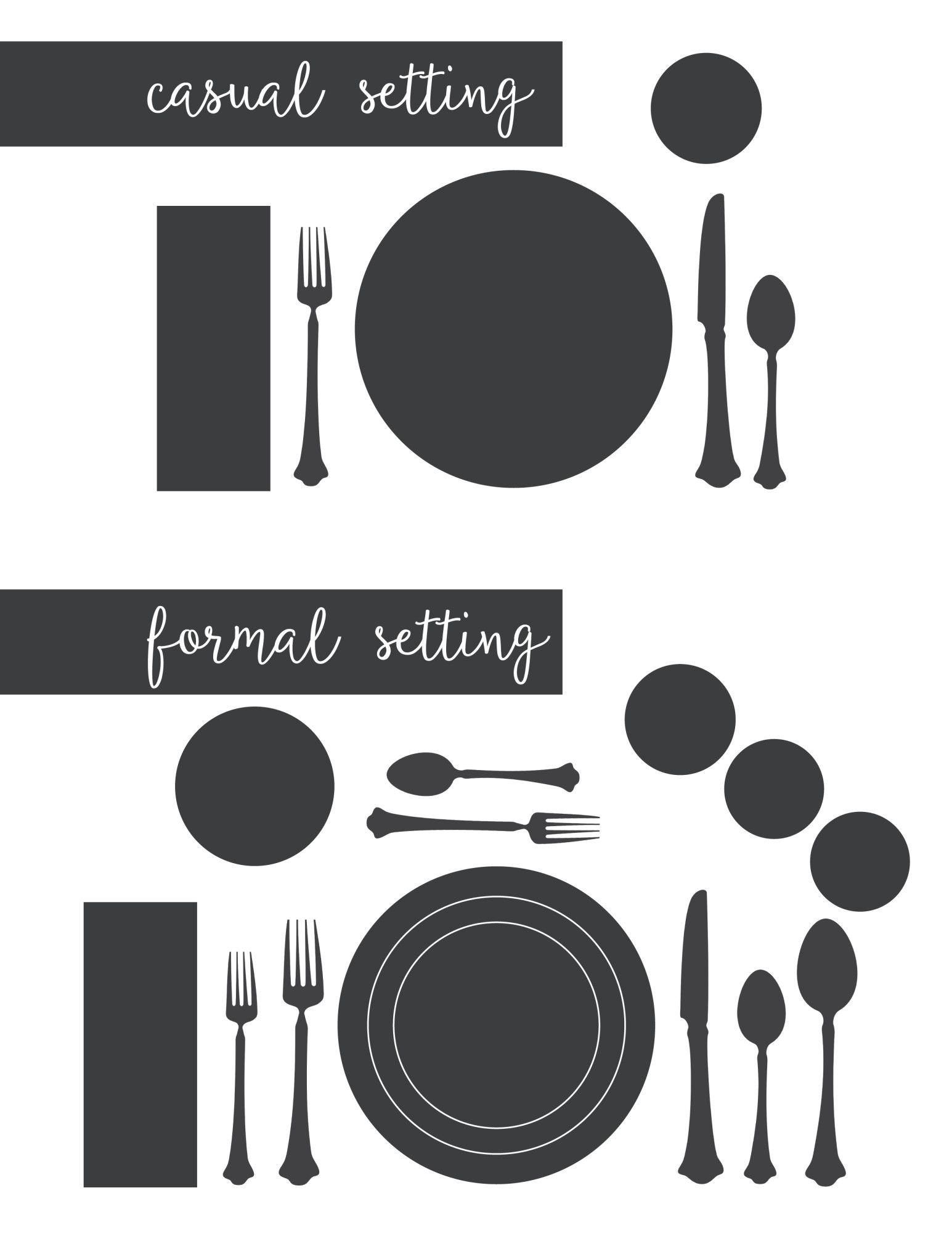 Entertaining Tips u0026 Setting a Proper Table  sc 1 st  Pinterest & Entertaining Tips u0026 Setting a Proper Table | Formal Holidays and ...