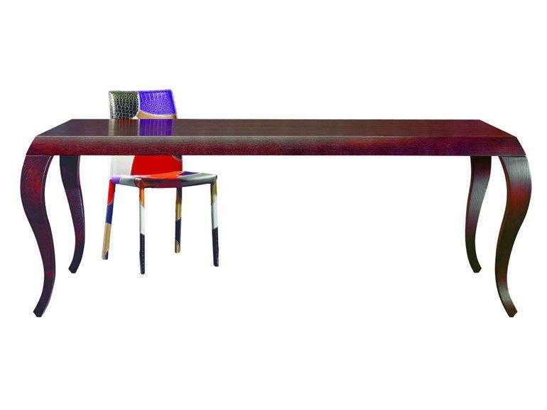 Tavolo ovale ~ Tavolo rettangolare in legno iris by airnova by leader tables