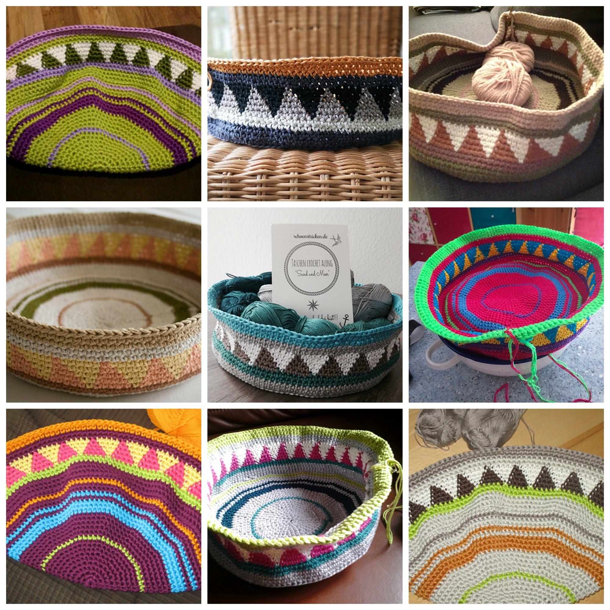 Taschen Crochetalong Farbinspirationen Freitag Wunderschön Und Häkeln