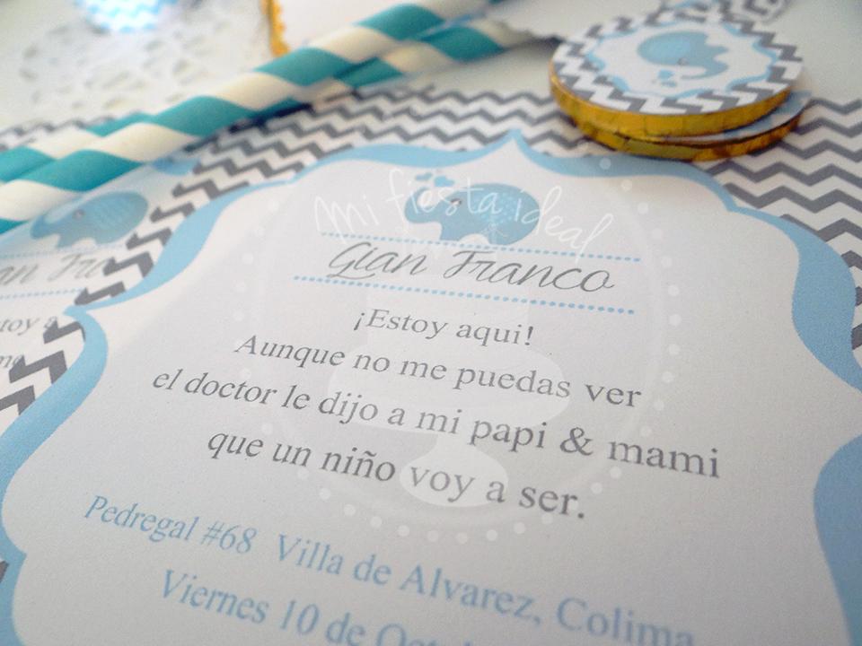 Baby Shower Elefante Niño ~ Decoración e invitaciones de baby shower marroquí