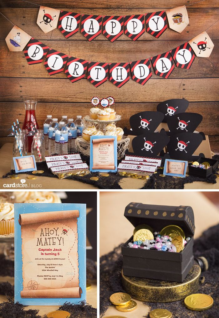 Arrr you ready for a party? Free pirate party printables | Cardstore ...