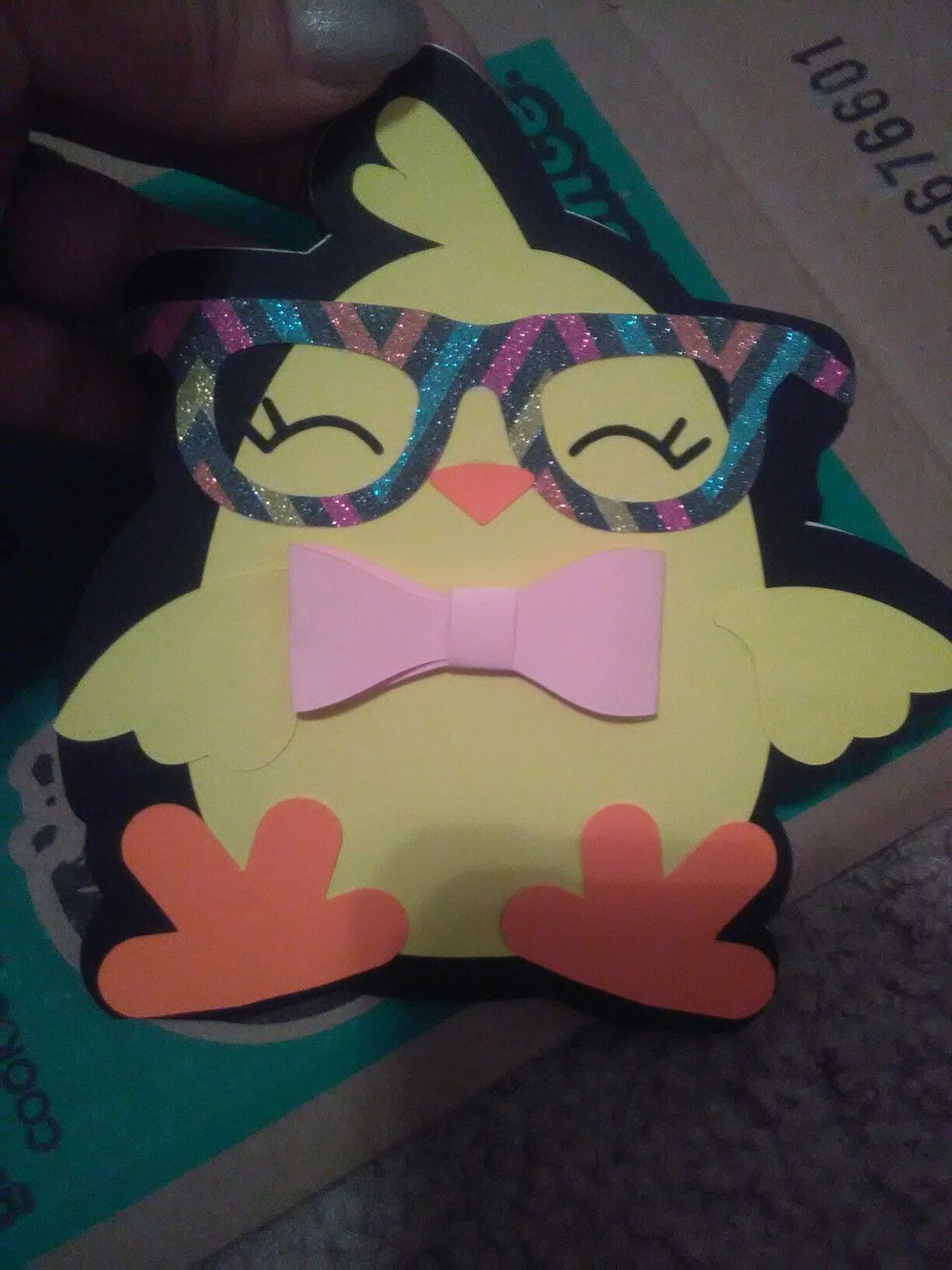 Cute chick card Created By Customs N Creations Ms. Nay