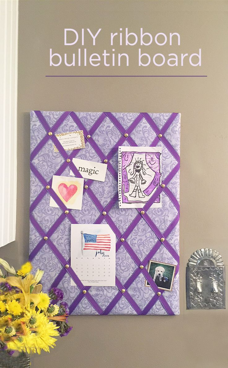 Diy Ribbon Bulletin Board Easy Tutorial Ribbon Bulletin Boards