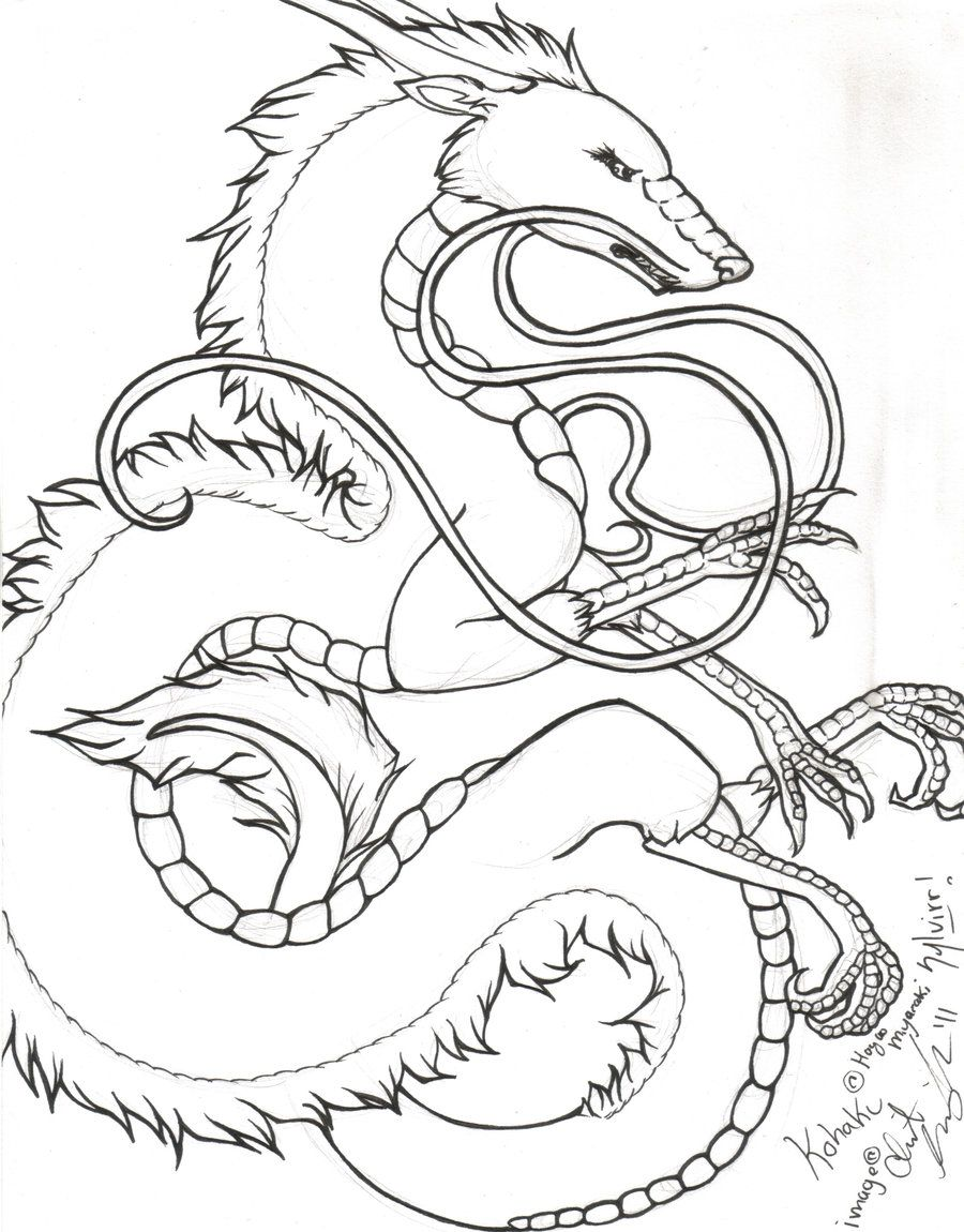 Kohaku Lineart By Sylvirr Kohaku Dragon Pictures Art
