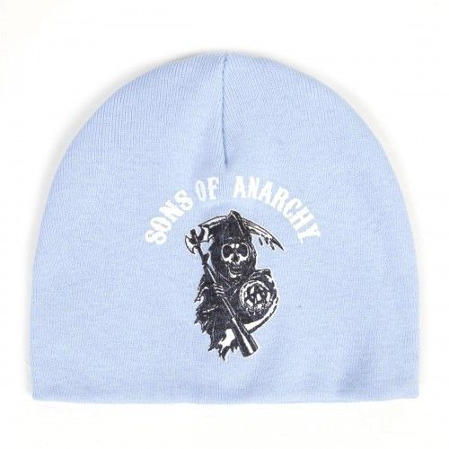 Sons Of Anarchy Reaper Printed Baby Beanie Blue Love